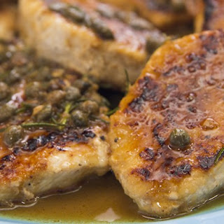 Pork Medallions with Capers and Lemon.