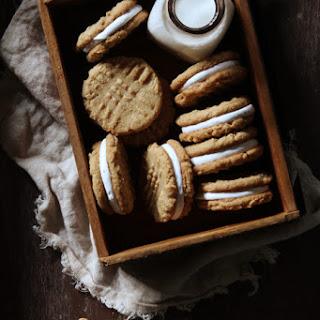 Peanut Butter & Marshmallow Sandwich Cookies.