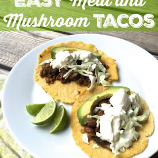 Meat and Mushroom Tacos.