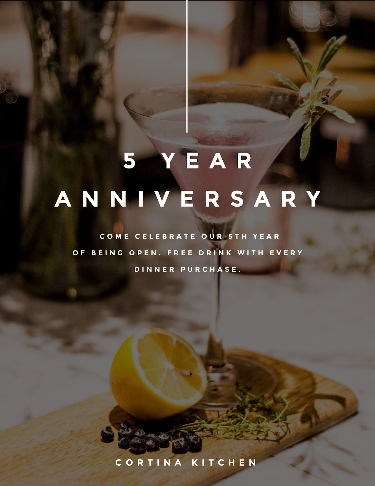 Five Year Anniversary - Flyer Template
