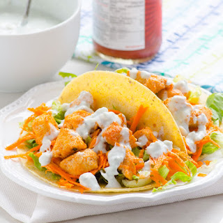 Clean Eating Buffalo Chicken Tacos