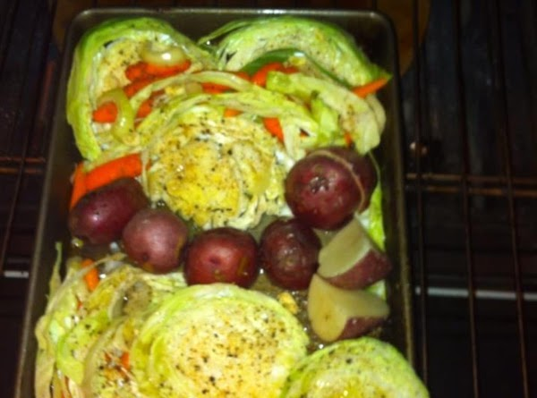 Roasted Cabbage, Red Potatoes, And Carrots Recipe