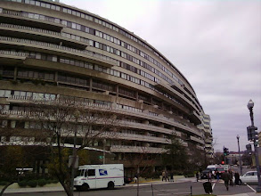 Photo: You walk by the spiky and expansive Watergate Complex, which gave its name to every famous scandal since the 1973 one that was named after it. (The current scandal is Climategate.)
