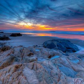 Sunset in São Torpes by João Freire - Landscapes Sunsets & Sunrises ( praia, pôr-do-sol, são torpes, paisagem, , garyfonglandscapes, holiday photo contest, photocontest, HDR, Landscapes )