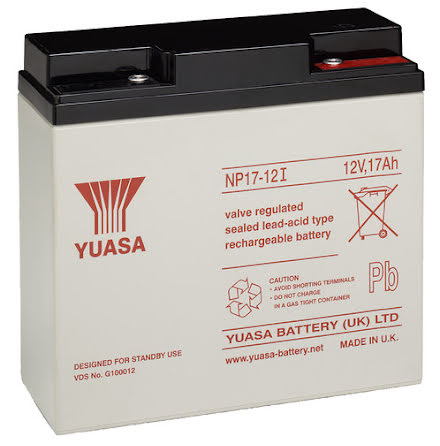 AGM batteri YUASA NP17-12 12V 17Ah LxBxH:181x76x16