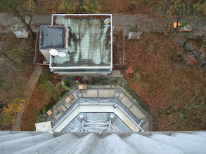 Photo: Looking down from the tower