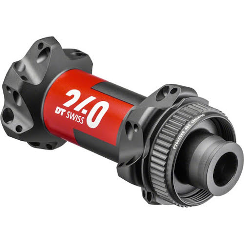 DT Swiss 240 EXP Front Hub - 12 x 100mm, Center Lock, straight Pull, 24h, Black/Red