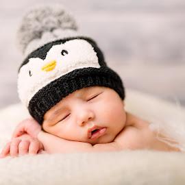 Sweety by Grozdana Genkova - Babies & Children Babies ( newborn photography, sweet, penguin, baby boy, newborn )