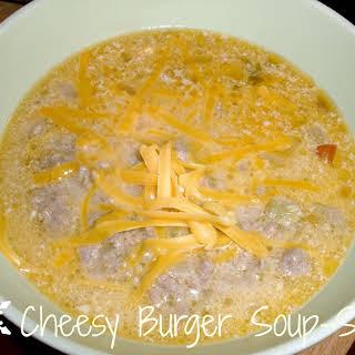 Cheesy Burger Soup-S.
