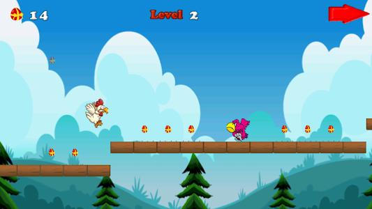 Angry chicken-Super run screenshot 2
