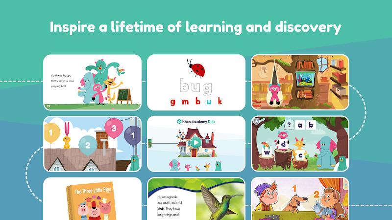 Khan Academy Kids: Free educational games & books Screenshot 0