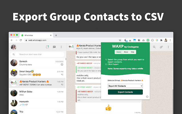 WAXP - Contacts Exporter for WhatsApp
