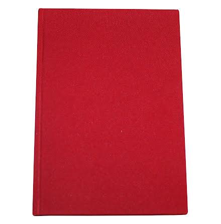 Anteckningsbok Tyg A4 röd