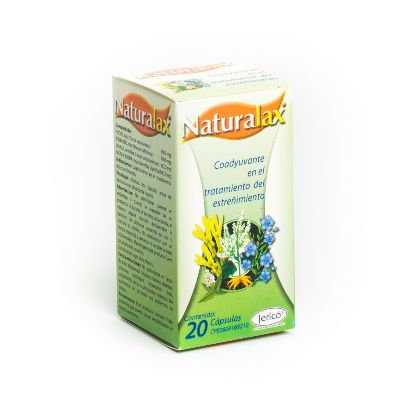 Laxante Hierbas Naturales Naturalax x 20 Cápsulas