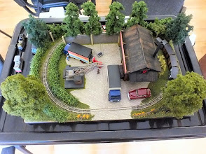 Photo: 016 Trevor Giddings also demonstrated the art of micro layout building but with a different approach with his Marshall & Hastings Works, served by a Busch Hof scale(6.5mm gauge) railway .