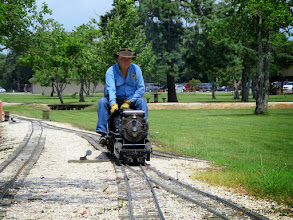 Photo: Doug Blodgett moves over the track leading to Phase II.     HALS Public Run Day 2015-0516 RPW