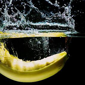 Banana Splash by Samson Calma - Food & Drink Fruits & Vegetables ( water, banana, splash, banana splash, water splash )