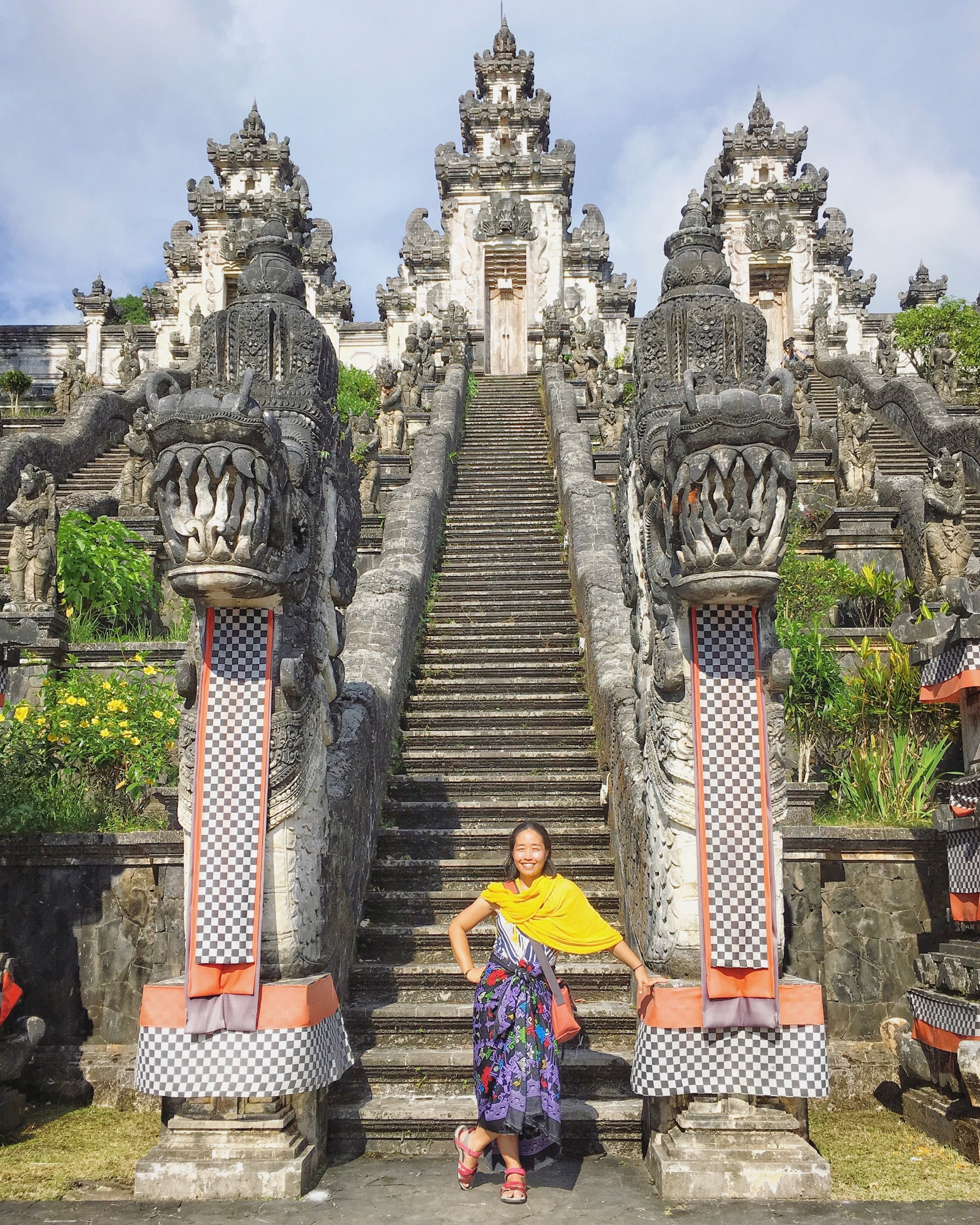 Lempuyang Temple in Bali - skirt and shawl are provided.