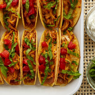 Easy Oven-Baked Chicken Tacos.