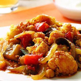 Indian-Spiced Eggplant & Cauliflower Stew.