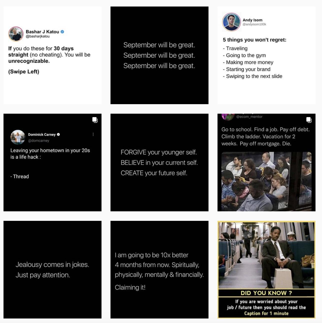 instagram quote theme example