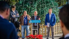 Presentación de la programación navideña de Roquetas, ayer