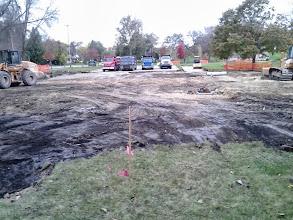 Photo: Parking Lot Excavation 10-23-2013