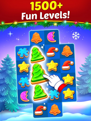 Christmas Cookie - Santa Claus's Match 3 Adventure modavailable screenshots 8