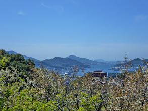 Photo: 気持ちいいです。 女神大橋が見えます。