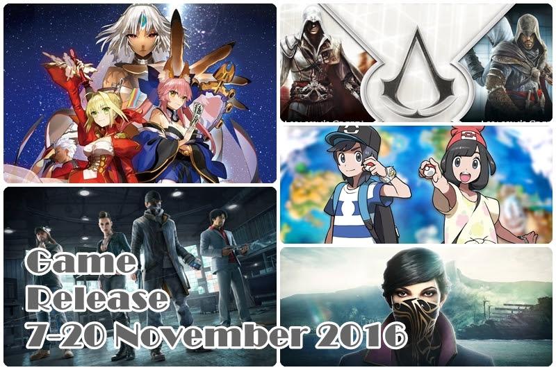 [Game Release] เกมวางตลาด 7-20 November 2016