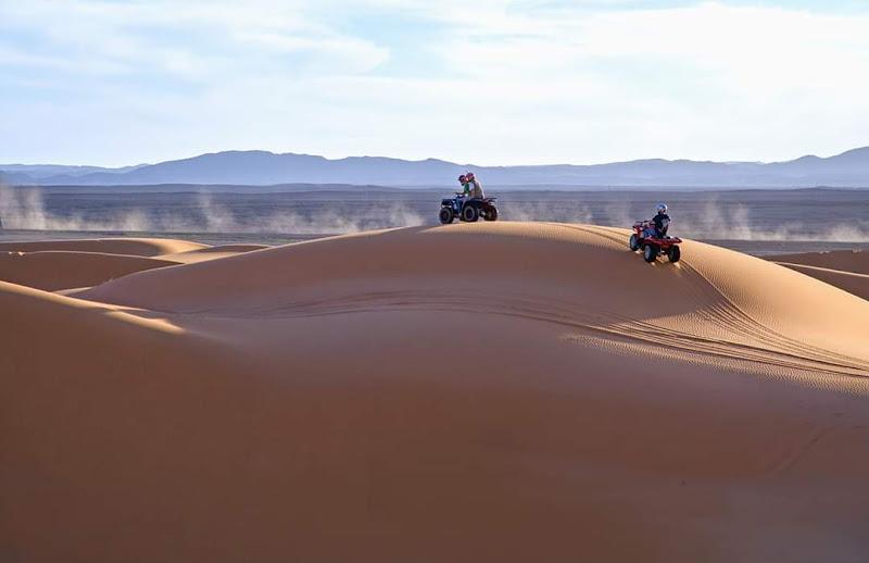 Nel deserto con con il quad di Marlak