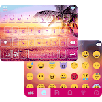 Sunset Beach Keyboard Theme Icon