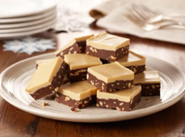 Layered Chocolate-peanut Butter Fudge