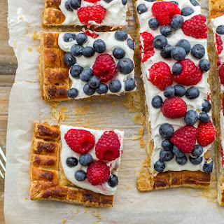 Mixed Berry Puff Pastry Tart with Mascarpone.