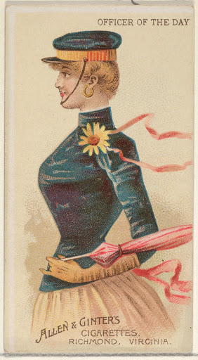 Officer of the Day, from the Parasol Drills series (N18) for Allen & Ginter Cigarettes Brands