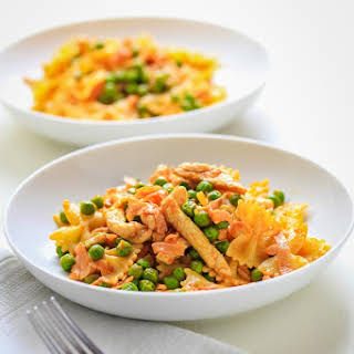 Bowtie Pasta With Chicken And Peas Recipes.