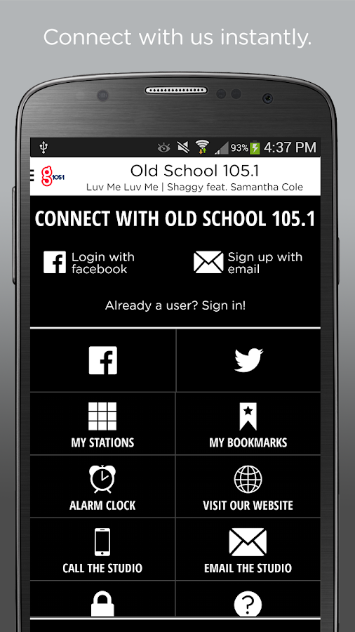 Old School 105.1- screenshot