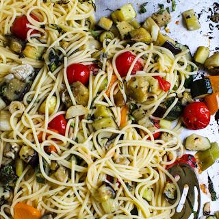 Easy Roasted Vegetable Spaghetti