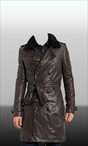 Men Leather Jacket Photo Suit screenshot 5