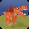Blocky Dino Park: Spino Strike icon