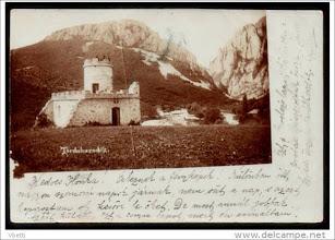 Photo: CHEILE TURZII. Casa de adăpost la 1901. Sursa delcampe.  sursa Facebook, Suciu Petru https://www.facebook.com/groups/biselectro/permalink/1279684552053503/