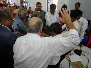 Photo: A special consecration prayer for the new couple. All of these pastors MTM has been working with in Orissa state of India for the pastfive years.