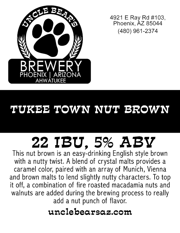 Logo of Uncle Bear's Brewery Tukee Town Nut Brown