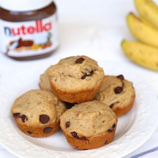Nutella Peanut Butter Banana Muffins
