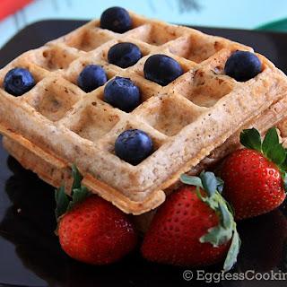 Vegan Oatmeal Raisin Waffles