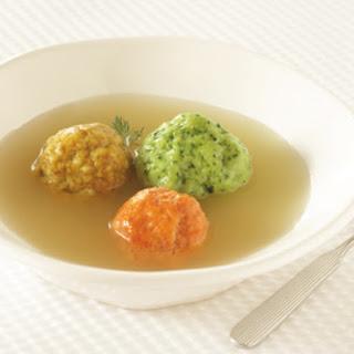 Tricolor Matzo Ball Soup