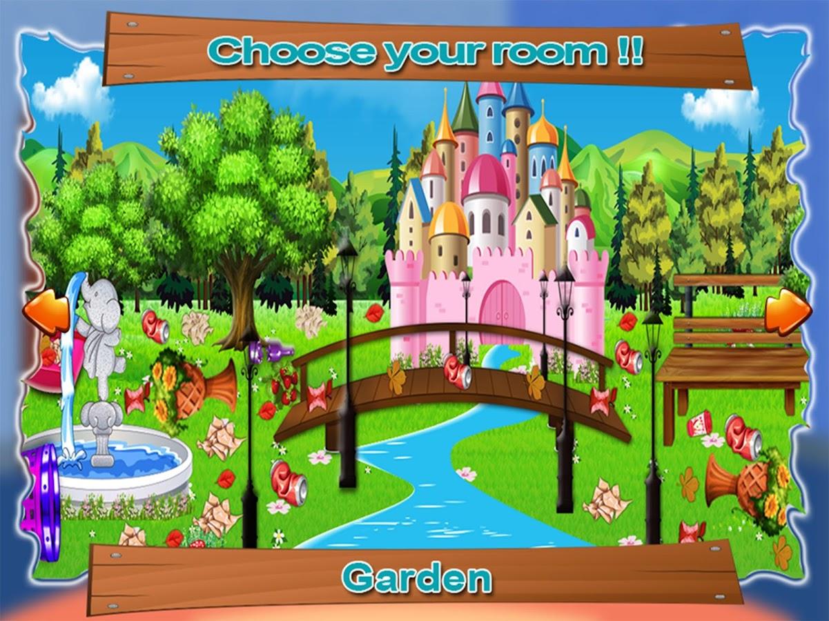 Clean up bathroom games - Princess Room Cleaning Game Screenshot