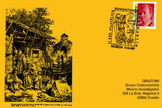 Photo: Tarjeta del Matasellos de la II Exposición Filatélica de los Humanitarios de Moreda 2000
