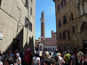 Photo: First view of Siena Piazza del Campo. We went there many times after.