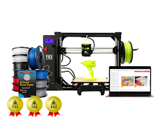 LulzBot TAZ Workhorse 3D Printer Educational Bundle with 3 Year Extended Warranty
